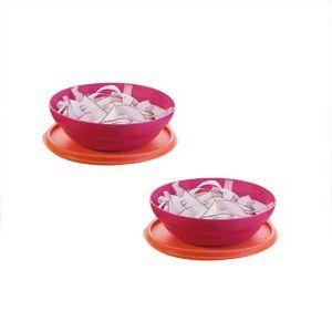 Tupperware Kit Pragela 450ml 2 peças Rosa e Laranja