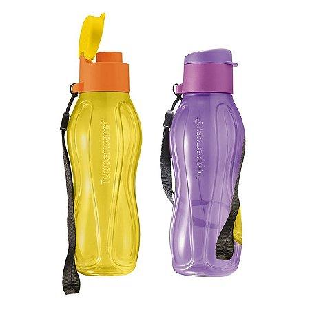 Tupperware Eco Tupper Plus Lilás e Amarela Kit 2 peças