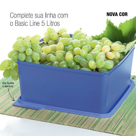 Tupperware Basic Line 5 Litros Noturnal Roxo Neon