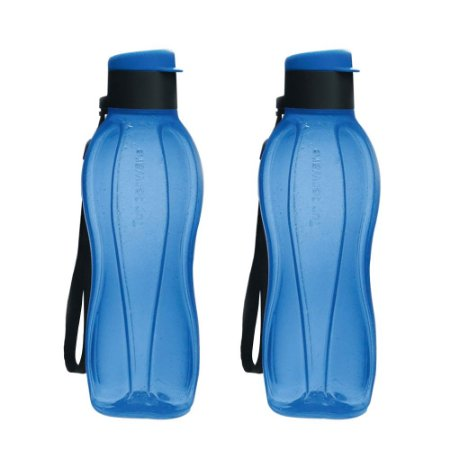 Garrafa Tupperware Eco Tupper Plus 500ml Azul kit 2 Peças