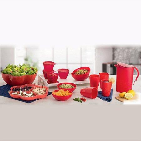 Tupperware Kit BEA Flores e Murano 14 Peças Nível 3 Vermelho 09/2015