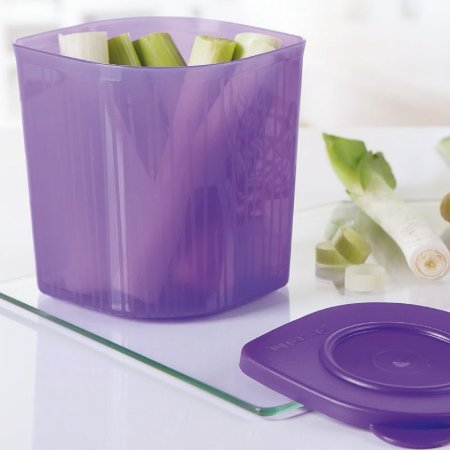 Tupperware Fresh 'n Cool 1 litro Quadrado Roxo