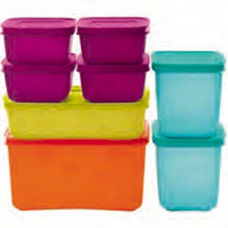 Tupperware Freezer Line kit 8 Peças