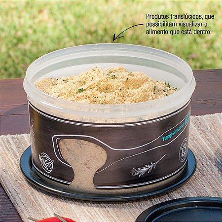 Tupperware Pote Master 1,5 litro Preto Translúcido Churrasco