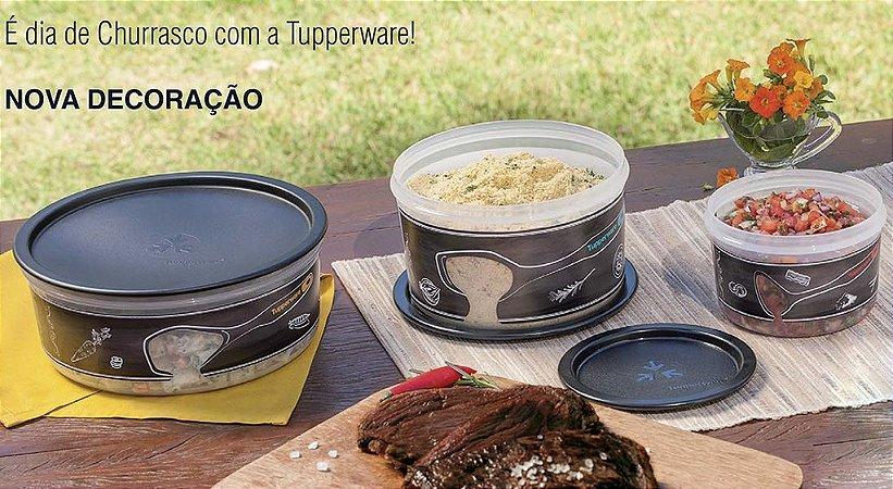 Tupperware Kit Churrasco com Estilo Preto Translúcido Instantâneas