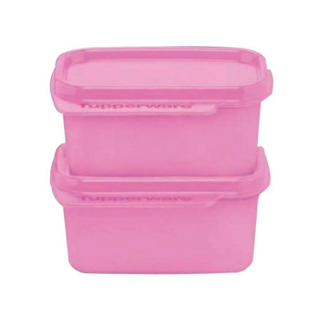 Tupperware Basic Line 160ml Rosa kit 2 Peças