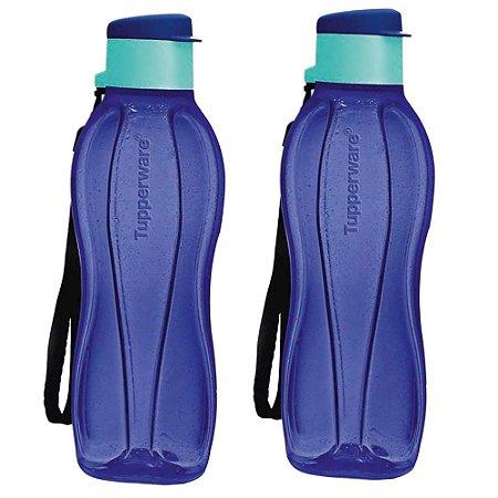 Garrafa Tupperware Eco Tupper Plus 500ml Azul Íris Kit 2 Peças