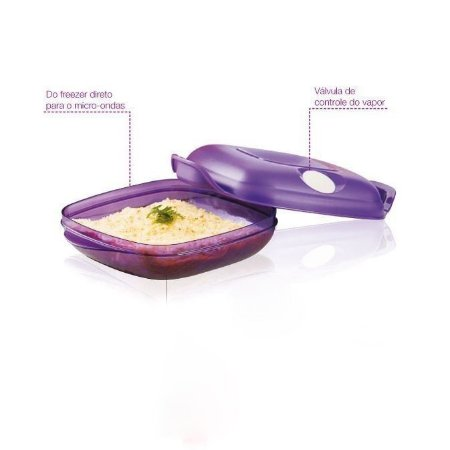 Tupperware Cristal Pop Quadrada 475ml Roxo