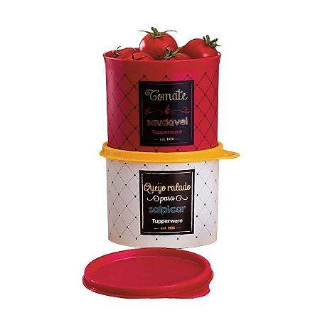 Tupperware Kit Par Perfeito Tupper Caixa Queijo Ralado e Tomate Bistrô