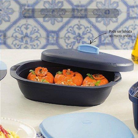 Tupperware Travessa Oval Actualité 1,7 litro Azul Marinho