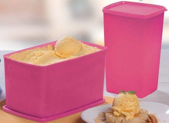 Tupperware Kit Espaçosa 3 litros + Jeitosa 1,8 litros Rosa Pink