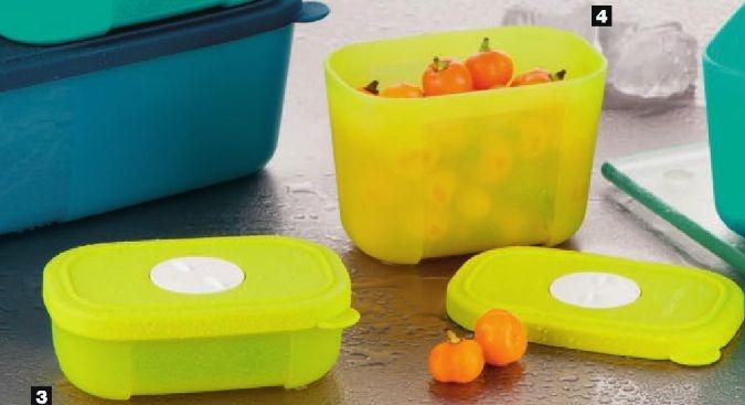 Tupperware Kit Freezertime Margarita 290ml e 110ml 2 peças Amarelo