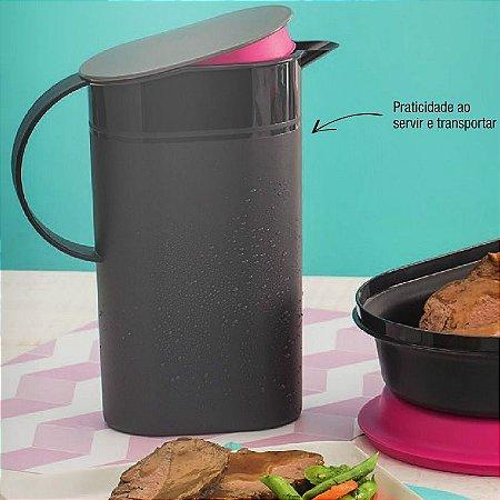 Tupperware Jarra Prelúdio 1,7 litro Preto e Rosa