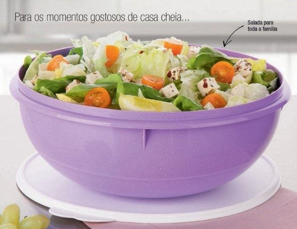 Tupperware Maravilhosa Saladeira 6,5 litros Lilás