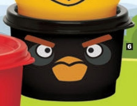 Tupperware Potinho Angry Birds Bomba 140ml Preto