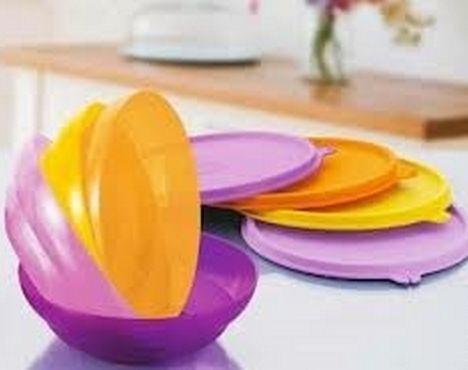 Tupperware Kit Pragela 150ml Rosa 5 peças