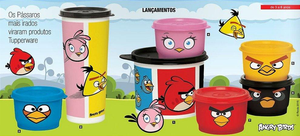 Tupperware Kit Angry Birds Colorido 7 peças