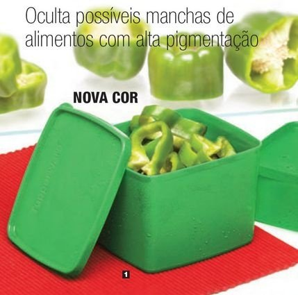 Tupperware Jeitoso Pimentão 800ml Verde