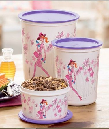 Tupperware Kit Tupperware Super Instantâneas e Mini Instantânea Izak Ilustrador Lilás e Rosa