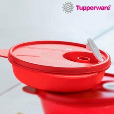 Tupperware Tigela Cristalwave 1 litro Vermelha