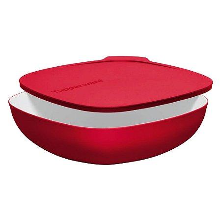 Tupperware Tigela Allegra Quadrada 2,5 Litros Vermelha