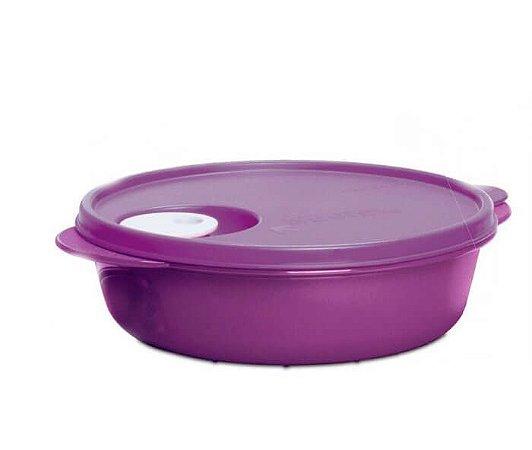 Tupperware Cristalwave Redonda Roxa 1 litro