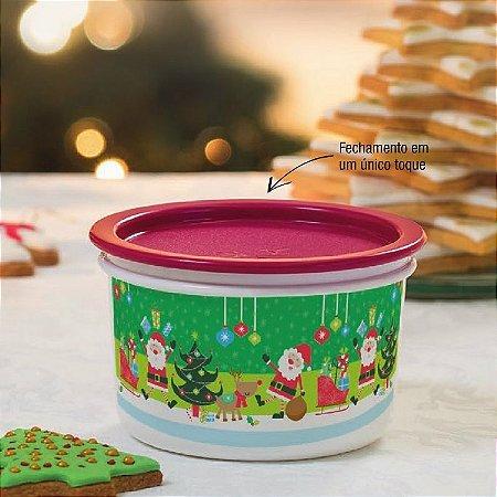 Tupperware Mini Instantânea Natal 575 ml Verde e Vermelho