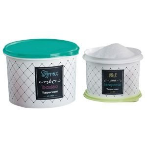 Tupperware Caixa Bistrô Arroz 2kg + Sal 1kg