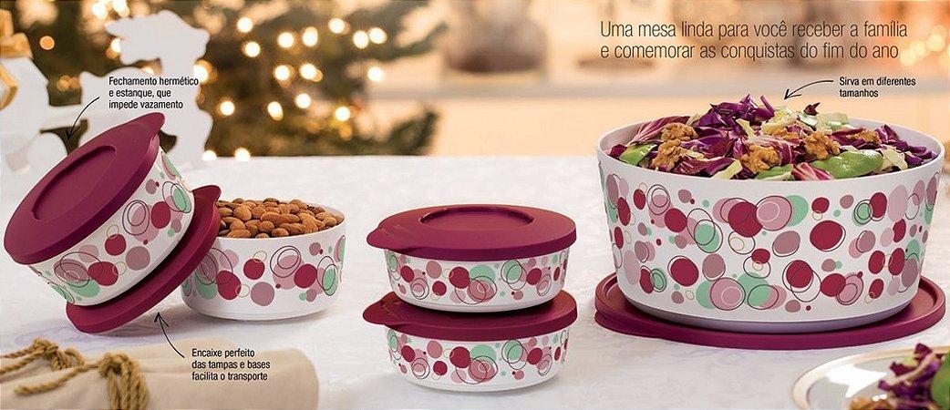Tupperware Tigela Ilúmina Marsala Kit 5 peças