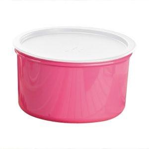 Tupperware Pote Master 1,5 litro Rosa tampa Branca