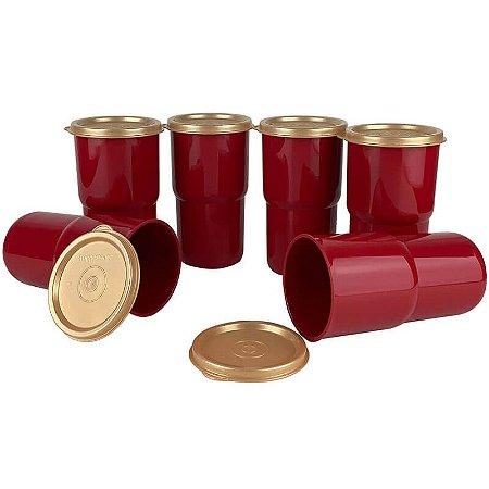 Tupperware Copo Colors 350ml Vermelho kit 6 Peças