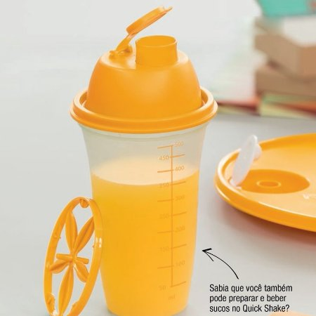 Tupperware Quick Shake 500ml Laranja