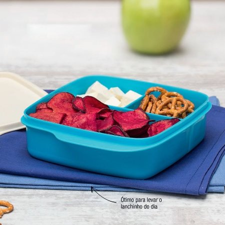 Tupperware Basic Line com Divisórias 550ml Azul