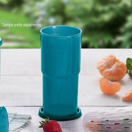 Tupperware Copo Colors 500ml Azul Turquesa