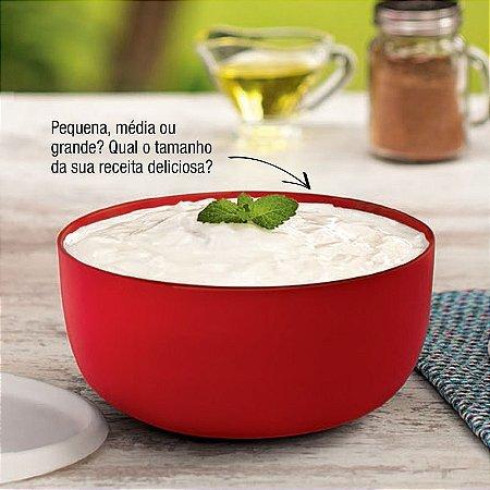 Tupperware Tigela Toque Mágico 1,3 litros Vermelho