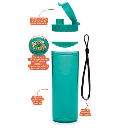 Tupperware Tupper Drink 380ml Verde