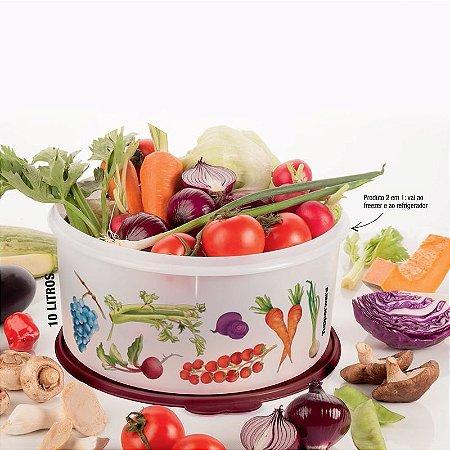 Tupperware Porta Tudo Horta Gourmet Branco 10 litros