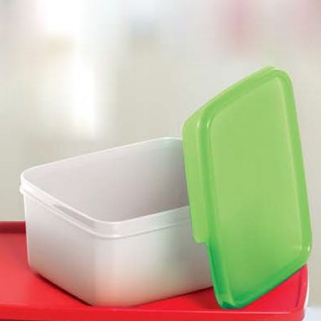 Tupperware Basic Line Small 500ml Translúcida tampa Verde