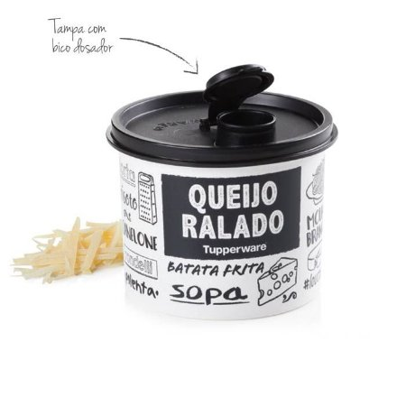 Tupperware Redondinha Queijo Ralado 500ml PB Fun