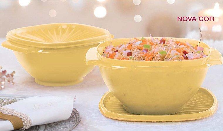 Tupperware Tigela Sensação 1,2 litros + Tigela Sensação 1,8 litros Amarelo