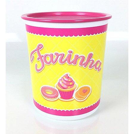Tupperware Super Instantânea Farinha 2,5Kg Rosa e Amarelo