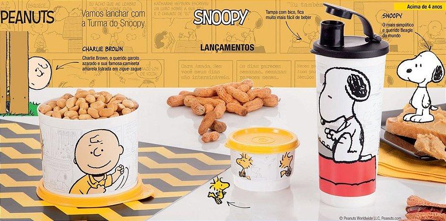 Tupperware Kit Snoopy Charlie Brown 3 peças