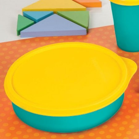 Tupperware Pratinho 500ml Azul e Amarelo