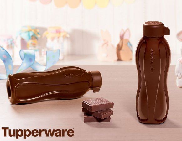 Tupperware Eco Tupper Garrafa 500 ml Marrom Chocolate