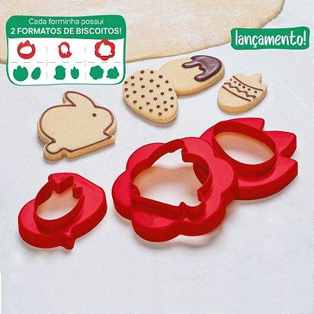 Tupperware Forminha para Biscoito Vermelho
