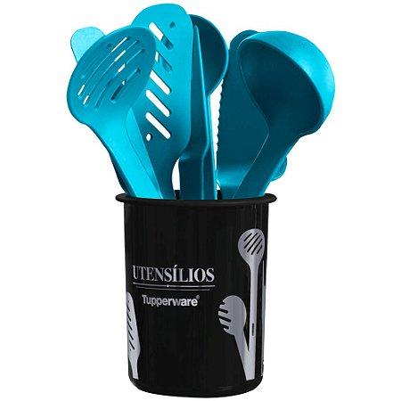 Tupperware Porta Utensílios Redondo Cozinha Moderna + Utensílios kit 9 Peças