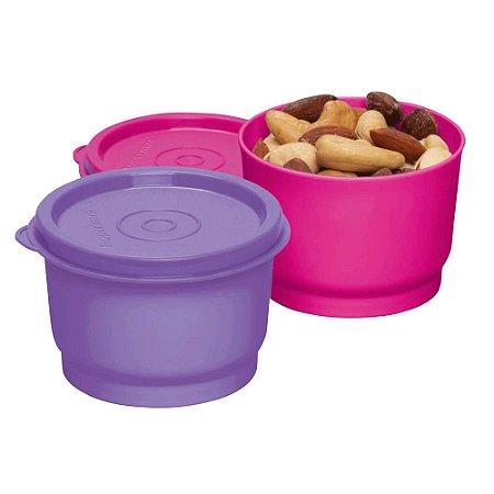 Tupperware Potinho 140ml Chiclate e Rosa Choque Kit 2 Peças
