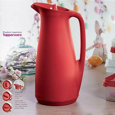 Tupperware Garrafa Térmica 1 litro Vermelha Café Chá