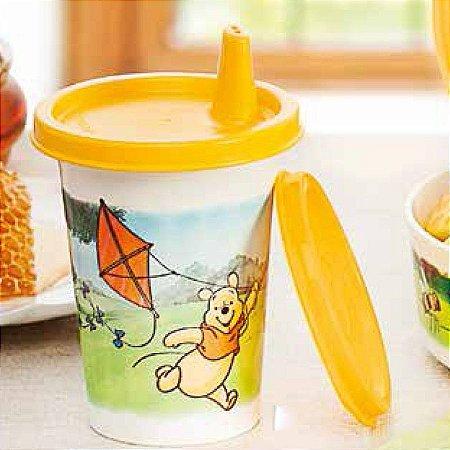 Tupperware Copinho com Bico Pooh 200ml Amarelo