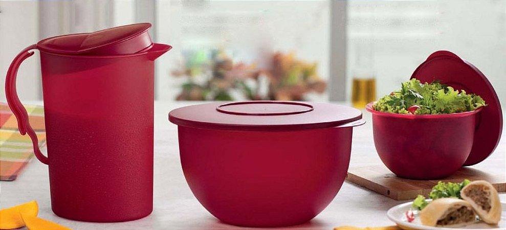 Tupperware Tigela Murano + Jarra Murano Marsala kit 3 peças